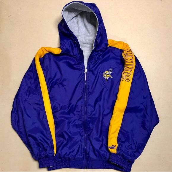 new arrivals e5769 681cf Minnesota Vikings - Vintage Puma Reversible Coat